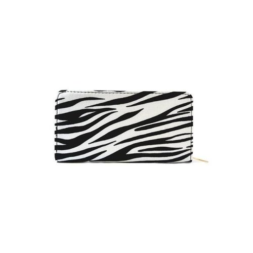 NuPouch 2010 Womens Wallet Purse Black With White Zebra