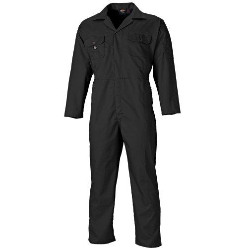 Dickies Redhawk Coveralls Black (Various Sizes) Men's Boiler Suit Coverall