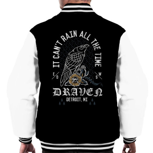 It Cant Rain All The Time Draven The Crow Men's Varsity Jacket