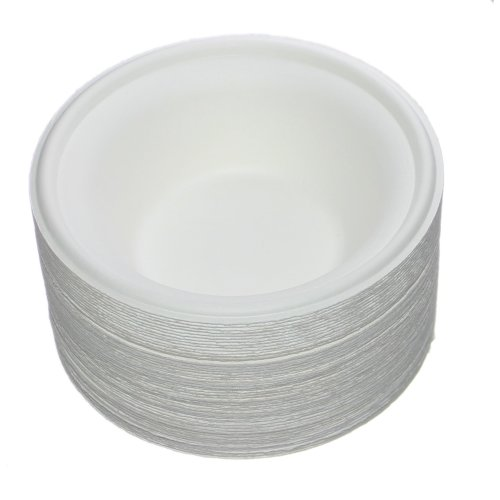 43e6287505a2 Benail 50 Pack 12 oz Round Disposable Bowls Eco-Friendly 100% Natural  Sugarcane Biodegradable Compostable Bagasse Tree Free and Plastic Free