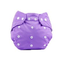 Cute Baby Diaper Cover One Size Diaper Cover With Snap Closure (3-13KG,Purple)