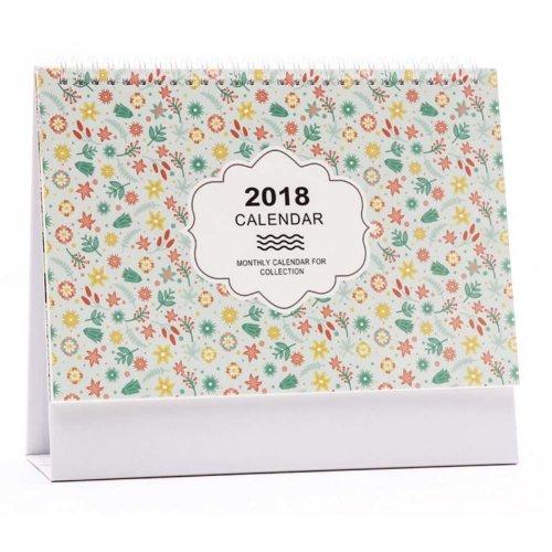 2018 Beautiful Creative Calendar, Desk Pad Standing Calendar For Office & Home