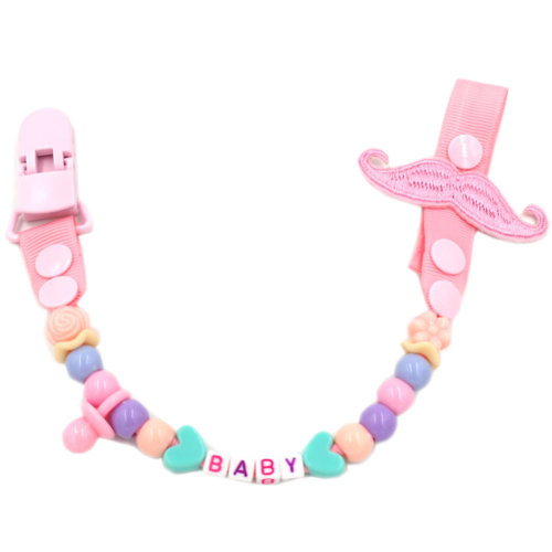 Baby Pacifier Leashes/Cases Special Pacifier Clips Pacifier Holder Pink Baby