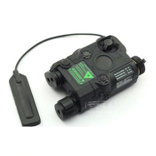 Airsoft Peq-15 Laser Light Torch Ir Pressure Pad Ris 20Mm Rail M4 Mp7 Black Uk
