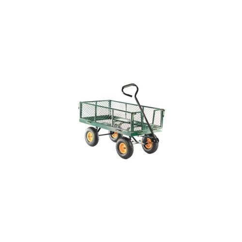 "GCT300 300kg Hand Cart 10"" Pneumatic Tyres Steel Mesh Body"