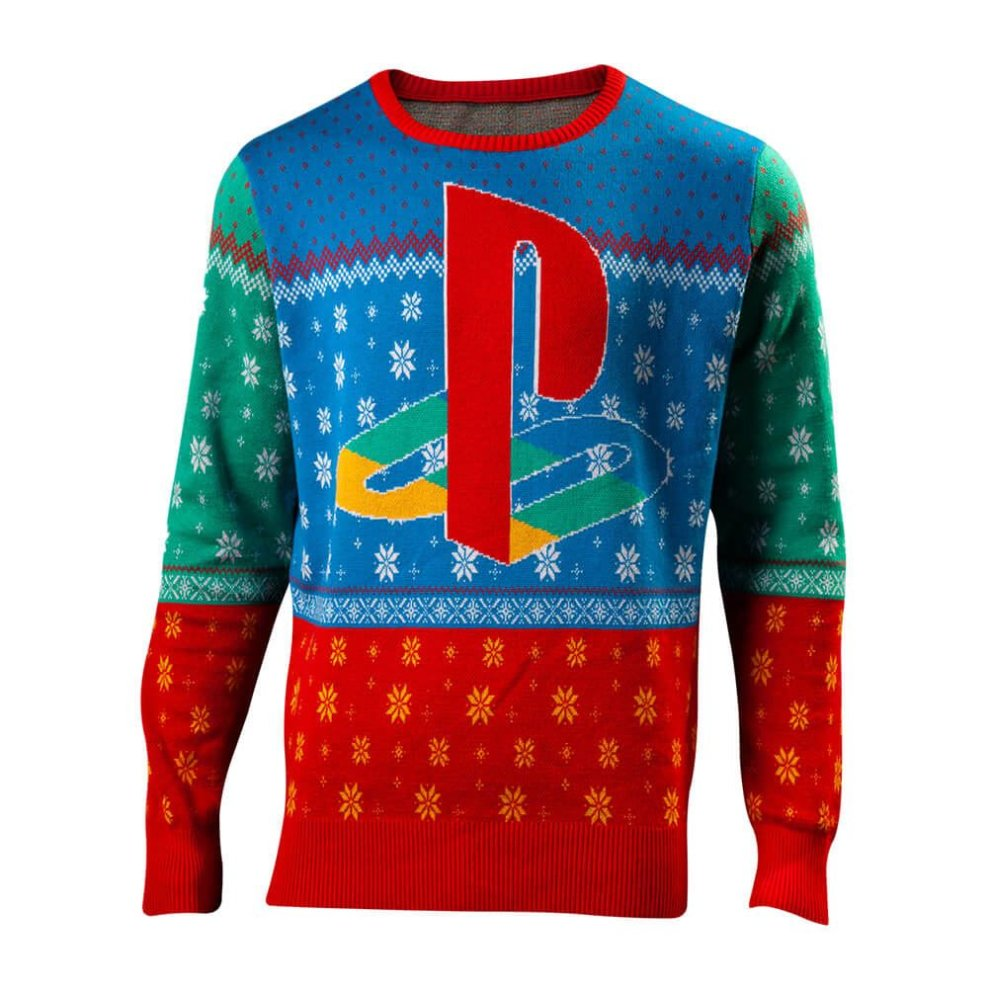 (M) Unisex Sony PlayStation Tokio Knitted Christmas Jumper