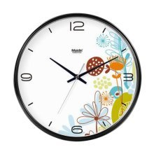 [B] 12 Inch Modern Wall Clock Decorative Silent Non-Ticking Wall Clock