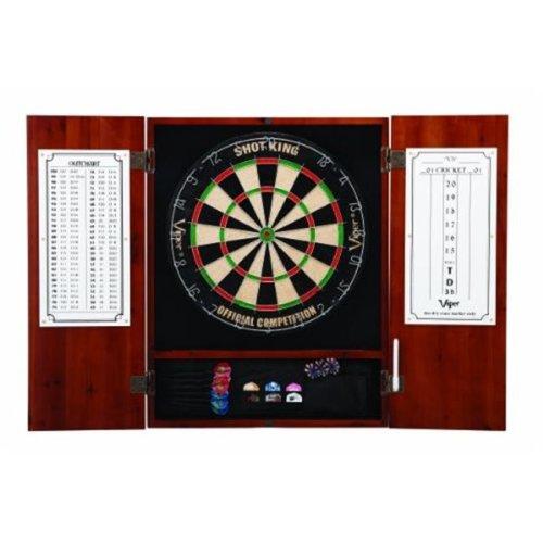 GLD Viper 40-0405 Metropolitan Cinnamon Steel Tip Dartboard Cabinet