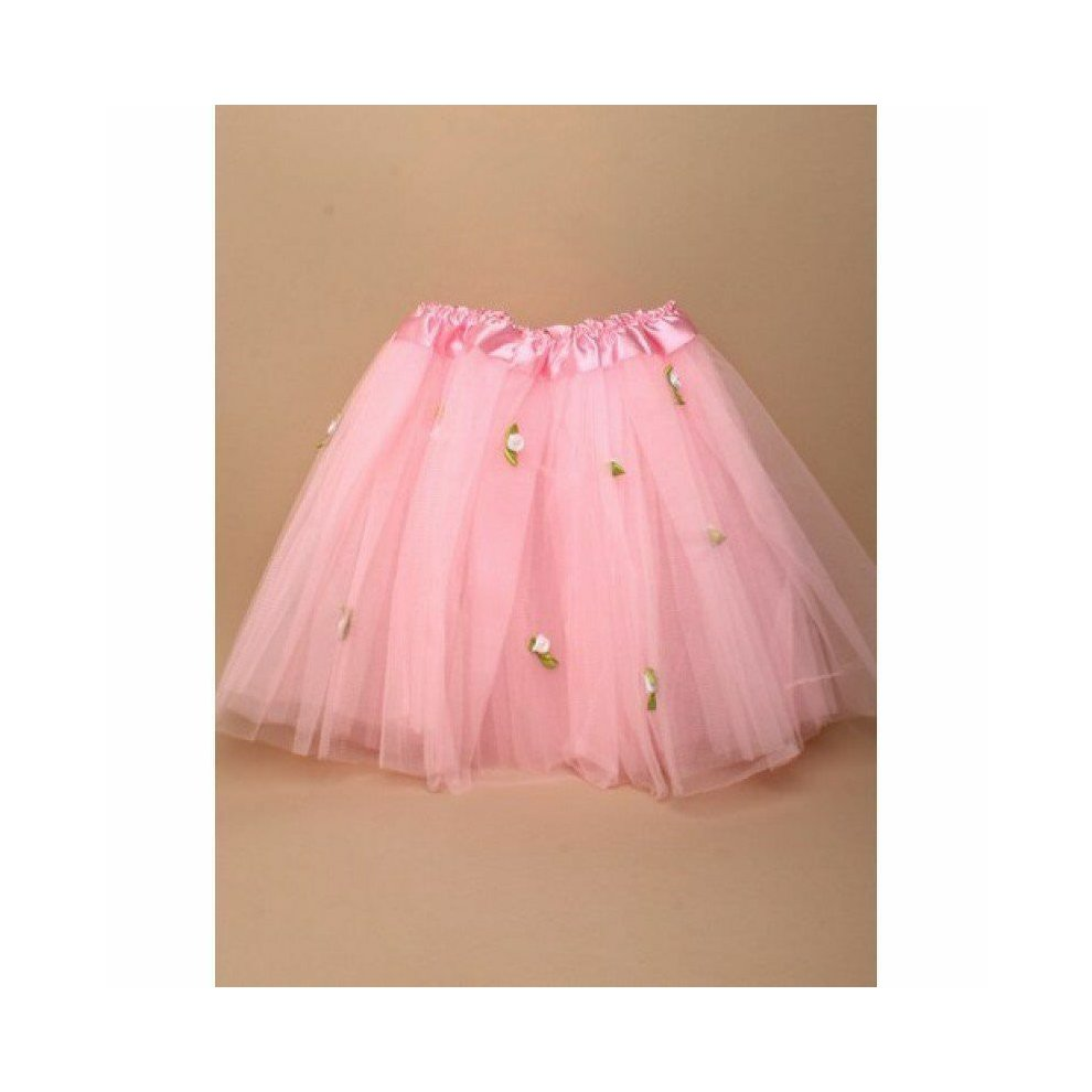 4a9085d91c ... Girls Tutu With Rose Detail Net Skirt Flower Girl Party Weddings Fancy  Dress - 3 ...