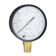 "100mm 0-10 Bar Pressure Gauge Air Oil Water Meter 1/2"" Bspt Side Entry Manometer"