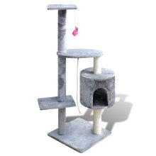 Cat Tree Cat Scratching Post 114 cm 1 Condo Grey