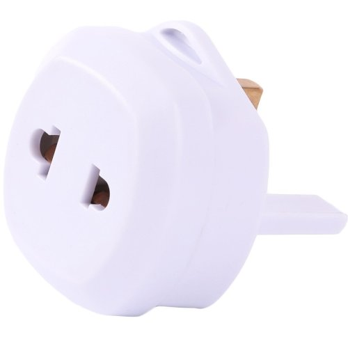 Shaver Adapter Plug, Salesla Toothbrush Plug Adaptor, 2 Pin (round or flat) to UK 3-Pin Socket, Fited with 13A Fuse