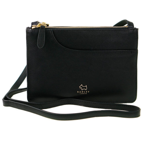 Radley Pockets Black Leather Small Zip Top Bag