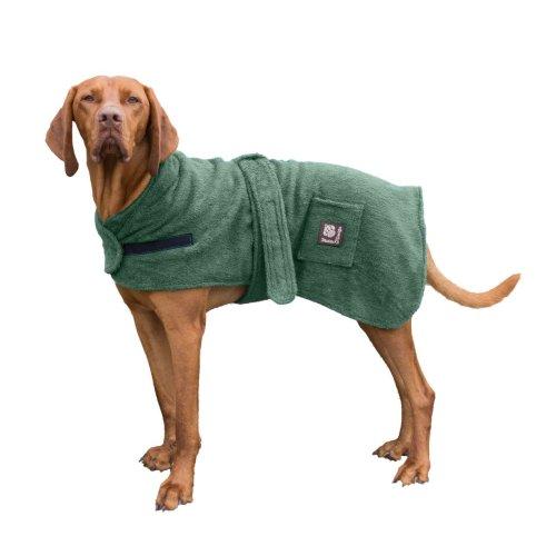 Dog Robe Towelling Green 50cm