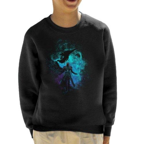Sephiroth Silhouette Final Fantasy VII Kid's Sweatshirt