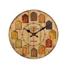 [A] 14 Inch Vintage Wooden Wall Clock Decorative Silent Wall Clock