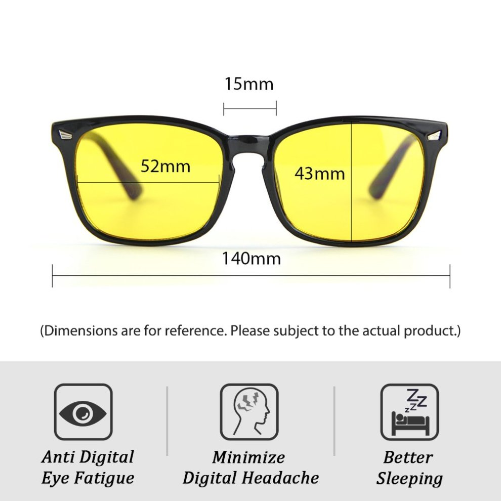 3c4c59609ef ... Cyxus Blue Light Filter Computer Glasses for Blocking UV Headache  Anti  Eye Fatigue  Vintage ...
