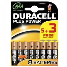 Duracell AAA 5 + 3 Free Power Plus (Model No. MN2400B53FREEPP)
