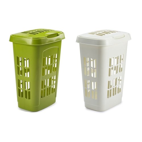 Plastic Large Laundry Bin Washing Clothes Hamper Basket With Lid Tidy Storage