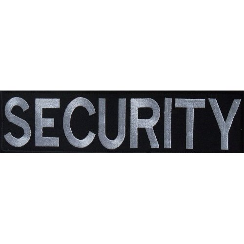 Embroidered SECURITY Patch -Black-30 x 8cm
