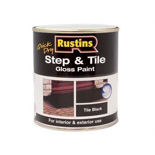 Rustins STBLW500 Quick Dry Step & Tile Paint Black 500ml