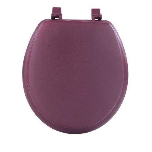 Achim Importing TOVYSTBU04 Fantasia Burgundy Soft Standard Vinyl Toilet Seat, 17 in.
