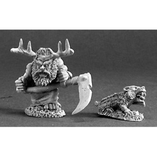 Reaper Dark Heaven Legends 03216 Dwarf Druid and Badger