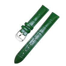 Leather Watch Strap Watchband Wrist Replacement Pin Buckle for Women [Green]