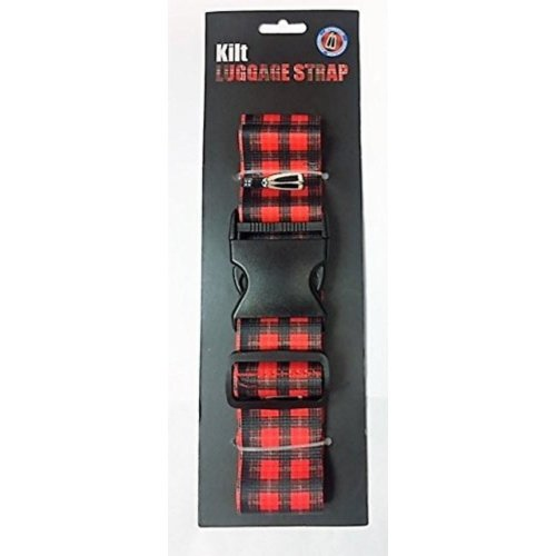 "Red ""Tartan Kilt"" Luggage strap by Instakilt"