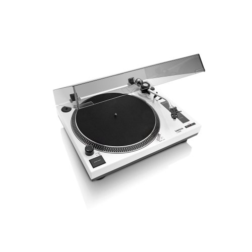 Lenco L-3808 White | 33 & 45 RPM Direct Drive USB Turntable for Vinyl with Integrated Stereo Pre-Amplifier and Premium Audio Technica Cartridge -...