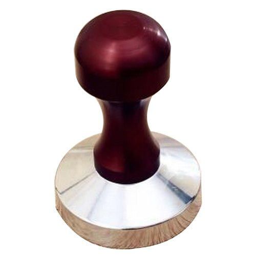 Stainless Steel Espresso Hand Tamper Whorl Base 58mm [Red]