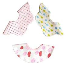 3 Pieces of Baby Bibs Baby Feeding Bib Waterproof [A]
