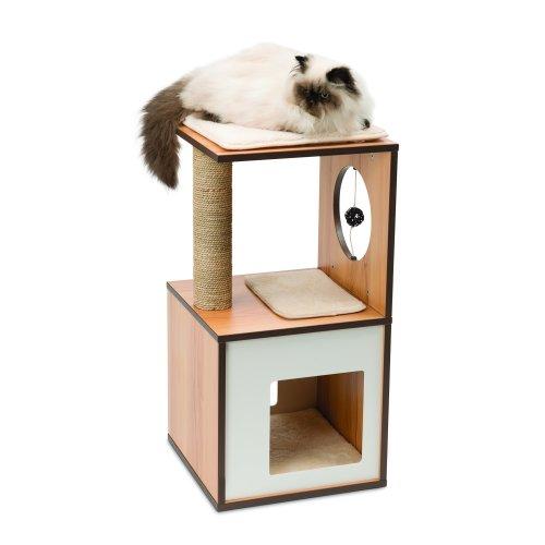 Vesper V-Box Cat Tree, Small in Walnut
