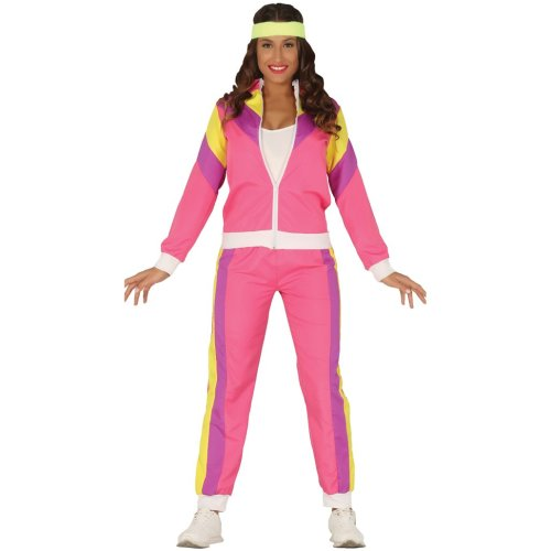 80's Gymnast Lady Tracksuit Shell Suit Costume