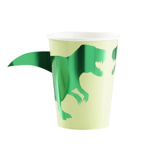 Paper Cups - Dinosaur - Foiled x 8 - Partyware