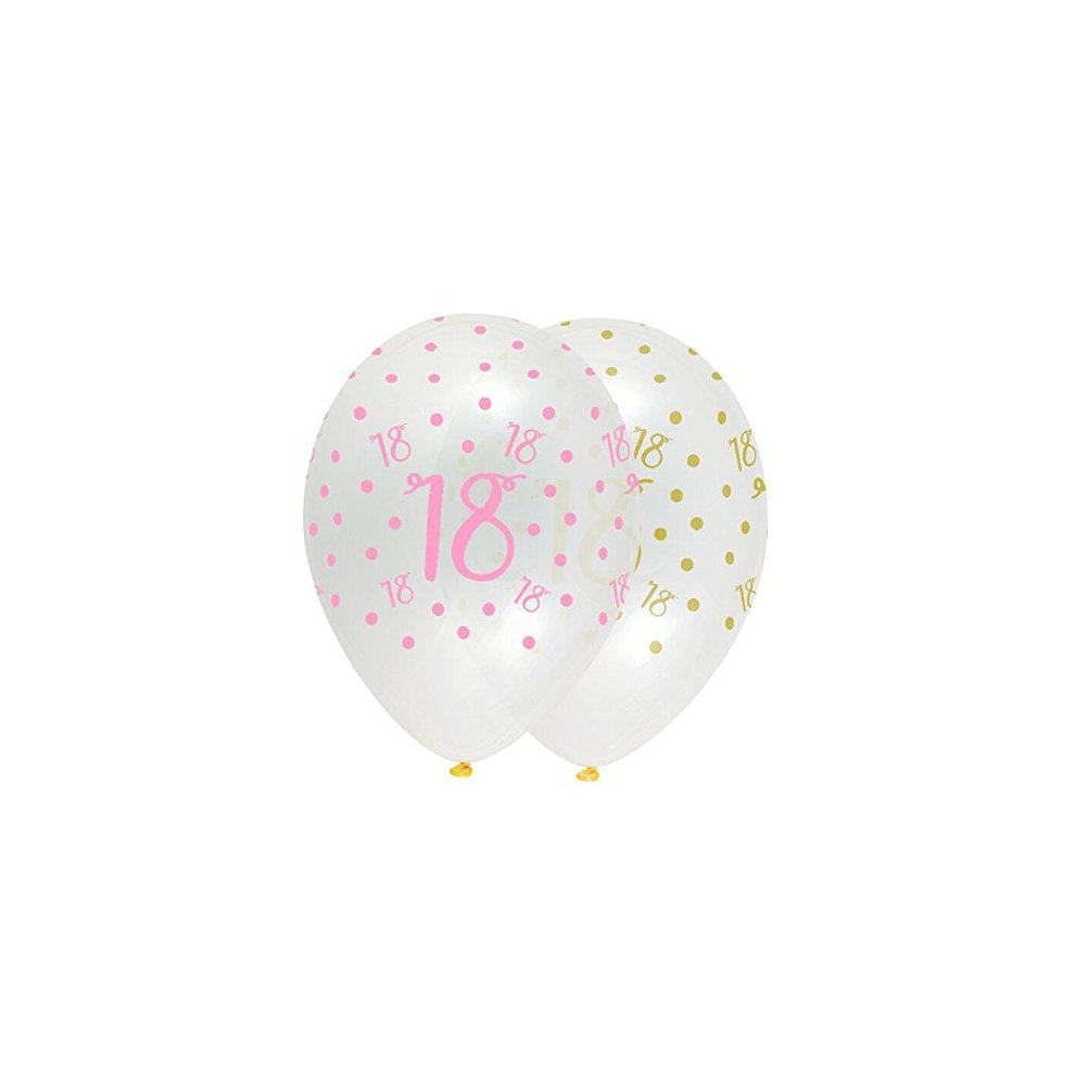 Pink Chic Happy 18th Birthday Latex Balloons On OnBuy