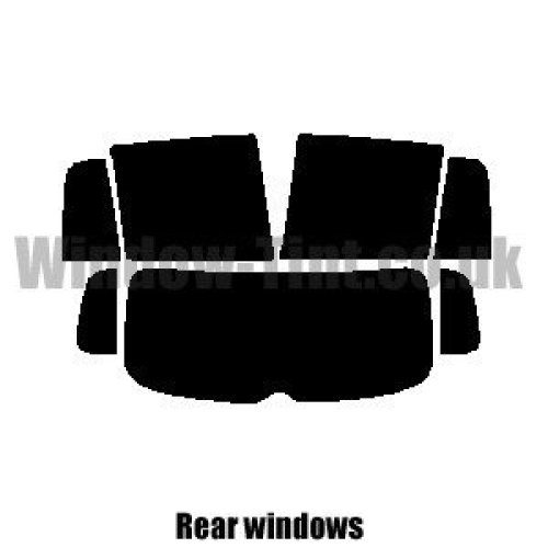 Pre cut window tint - VW Tiguan - 2008 to 2017 - Rear windows