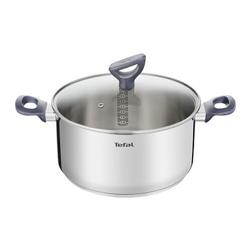 Tefal g7124614 dailycook Saucepan All Heat Sources Including Induction, Stainless Steel, Stainless Steel Lid, 24 cm