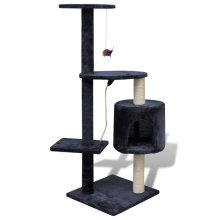 Cat Tree Cat Scratching Post 114 cm 1 Condo Dark Blue