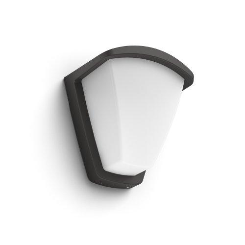 Philips Mygarden Wall Light 1738393pnâ Outdoor Lighting Anthracite White Aluminium Contemporary 1Bulb S E27