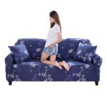 Double Sofa Cover Modern Elastic Sofa Couch Throws Slipcovers Non-slip Dustproof Sofa Cover-A20