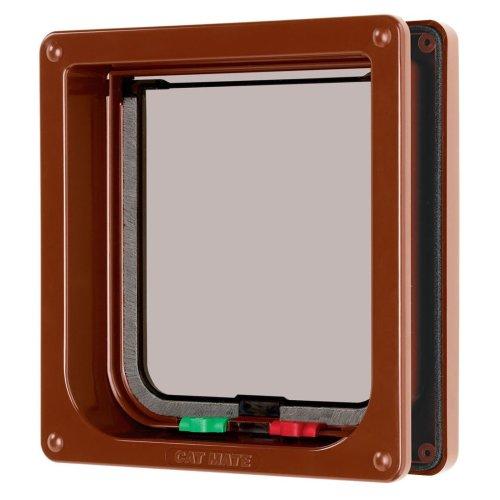 4 Way Locking Flap & Liner Brown 16.5x17.4cm