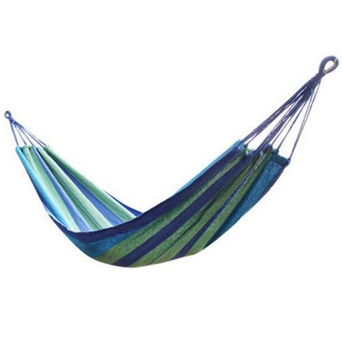 Multifunctional Camping Hammock Hanging Bed Single Size[2*0.8m] Blue/Green