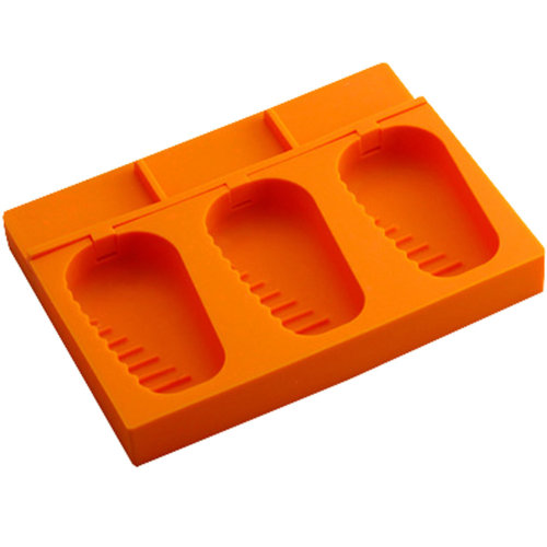 Silicone Ice Cube Tray Jelly Tray Mold Ice Chocolate Party Maker, Orange