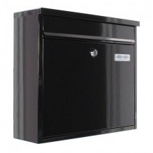 Apartment Letter Box Front A4 Slot Black Steel Rottner Hochhaus II