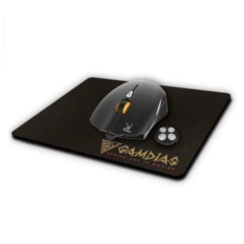 Gamdias OUREA E1 Gaming Combo - OUREA Optical Mouse & NYX E1 Mouse Mat, 4000 DPI, LED Backlight