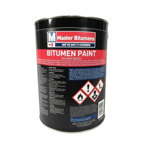 5 LITRE BLACK BITUMEN PAINT