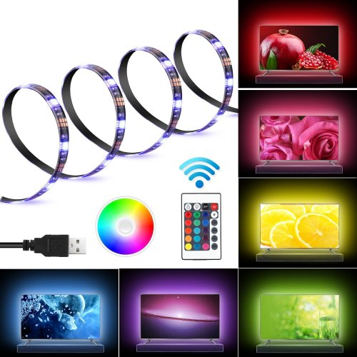 Led Tv Backlight Bias Lighting Kits For Hdtv Remote Control Usb
