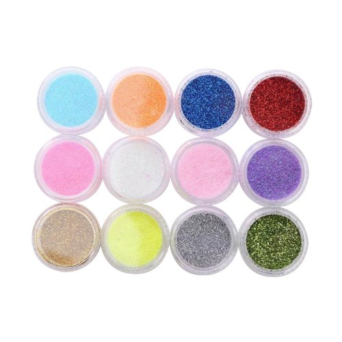 12 Boxes Makeup Glitter Sequins Shining Nail Art Sequins Face Glitter Multicolor