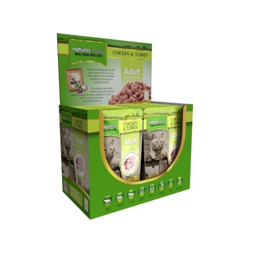Natures Menu Chicken & Turkey Cat Food Pouches